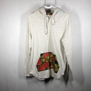 On the Byas floral hoodie size medium